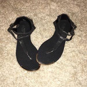 Never been worn black sandals!!